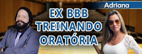 A ex-BBB Adriana treina com o Fonoaudiólogo Simon para ficar com a voz sensual