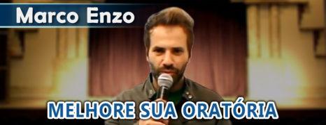 Marco Enzo melhora a sua oratória com o método do professor de oratória  Simon Wajntraub