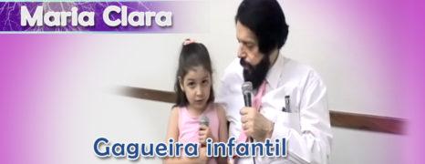 Maria Clara curando a sua gagueira infantil com o método revolucionário do Fono Simon Wajntraub