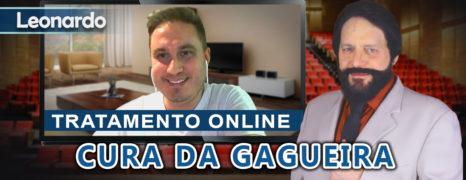Cura da Gagueira Através do Tratamento Online do Paciente Leonardo