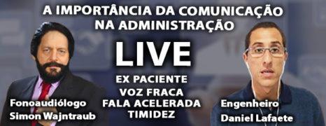 FALA ACELERADA E TIMIDEZ TEM CURA LIVE COM PACIENTE DANIEL LAFAETE